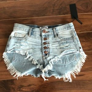 One Teaspoon Florence Rollers denim shorts